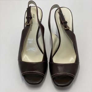 AK Anne Klein AKXAVIA Peep Toe Sling back Size 7.5